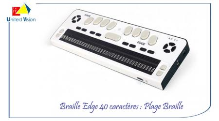 Braille Edge 40 - Plage braille