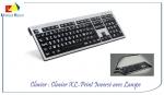 Photo Clavier XL Print PC Slim Line Blanc sur Noir avec lampe